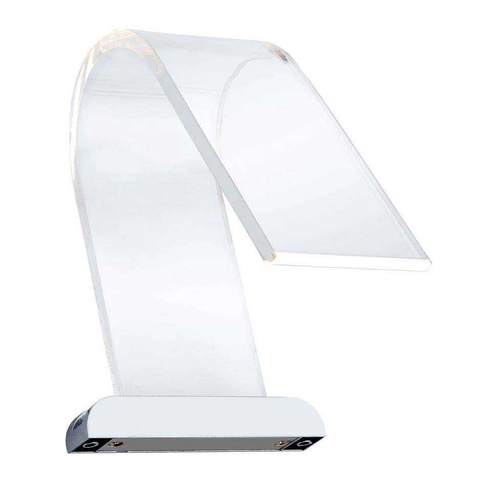 Hudson Reed Cascade Curved Acrylic LED Over Mirror Light  Profile Large Image