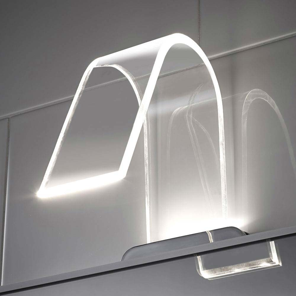 Hudson Reed Cascade Curved Acrylic LED Over Mirror Light Large Image