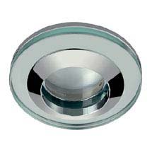 Hudson Reed Chrome Round Glass Shower Light Fitting - SE380010 Medium Image