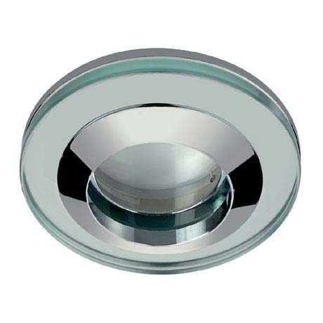 Hudson Reed Chrome Round Glass Shower Light Fitting - SE380010