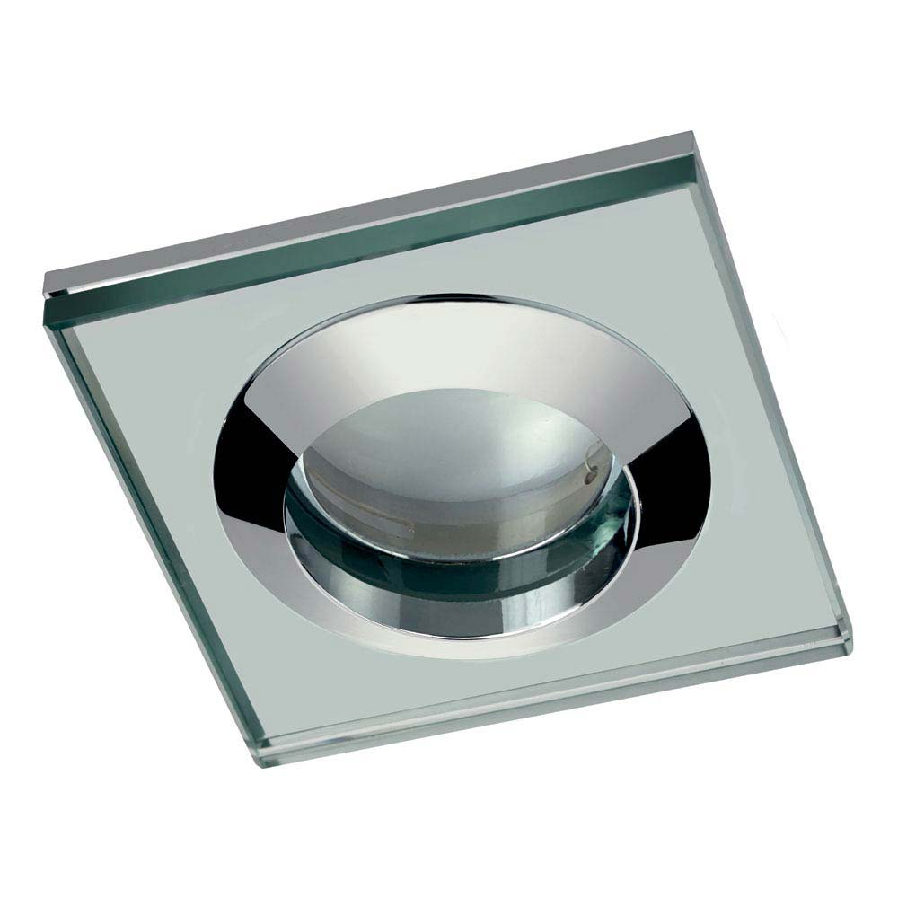 Hudson Reed Chrome Square Glass Shower Light Fitting - SE381010 profile large image view 1