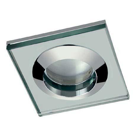 Hudson Reed Chrome Square Glass Shower Light Fitting - SE381010