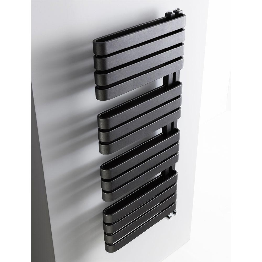 Bauhaus Svelte Towel Rail - 500 x 1100mm - Metallic Black Matte Feature Large Image