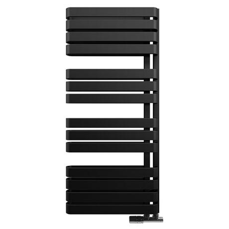 Bauhaus Svelte Towel Rail - 500 x 1100mm - Metallic Black Matte