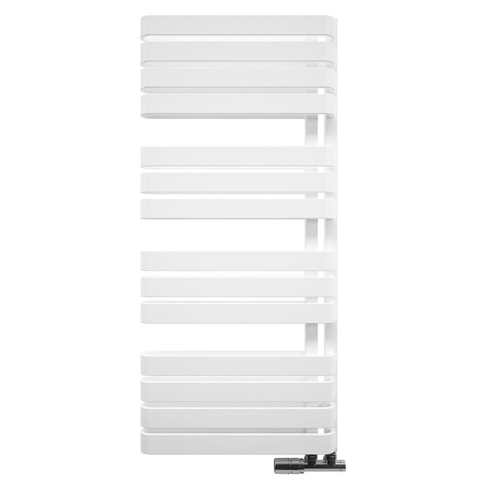 Bauhaus Svelte Towel Rail - 500 x 1100mm - Soft White Matte Large Image