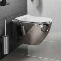Bauhaus - Svelte Wall Hung Pan with Soft Close Seat - Platinum Medium Image