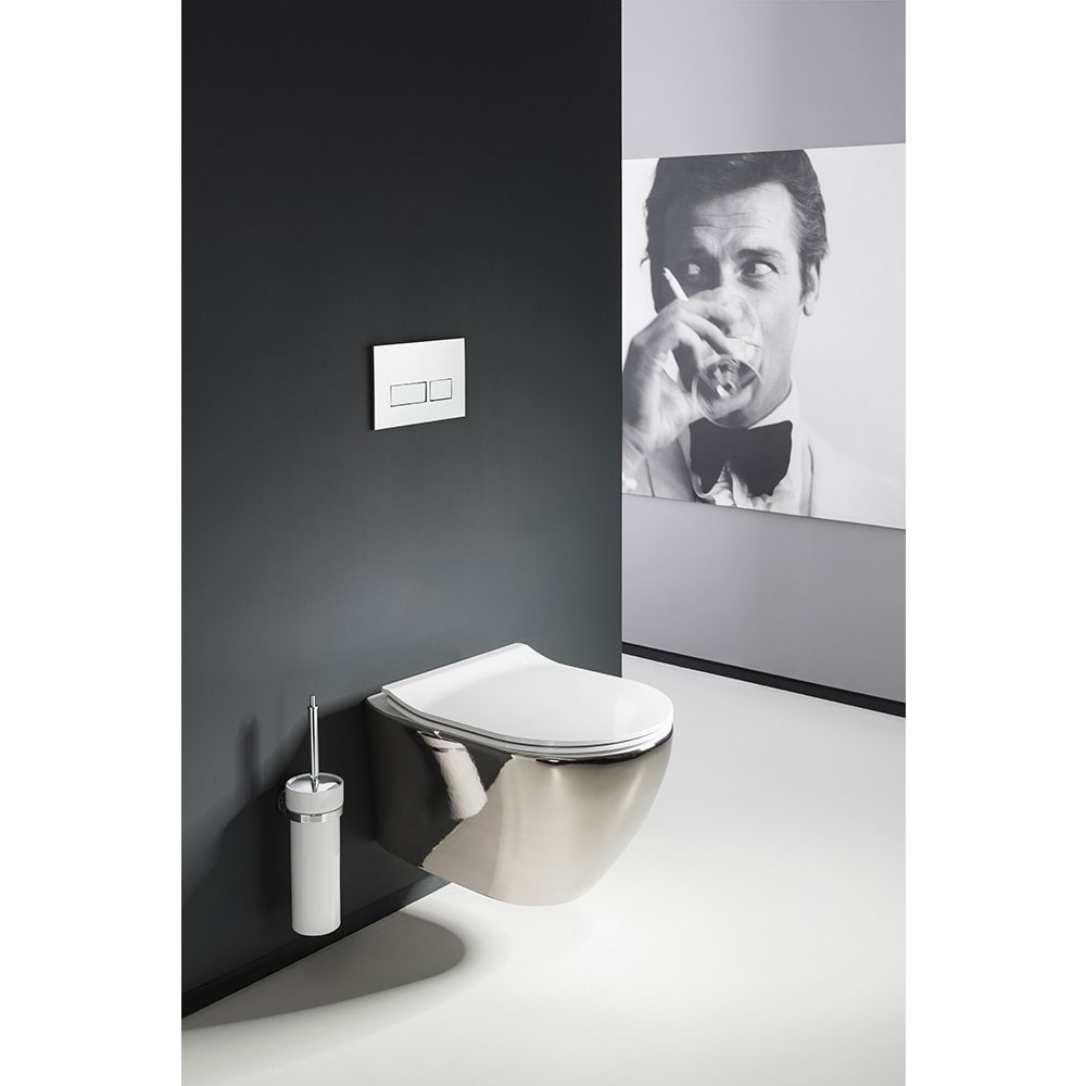 Bauhaus - Svelte Wall Hung Pan with Soft Close Seat - Platinum Standard Large Image