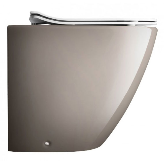Bauhaus - Svelte Back to Wall Pan with Soft Close Seat - Platinum profile large image view 1