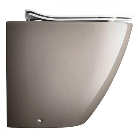 Bauhaus - Svelte Back to Wall Pan with Soft Close Seat - Platinum