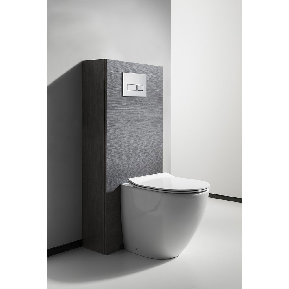 Bauhaus - Svelte Back to Wall Pan with Soft Close Seat - White profile large image view 3