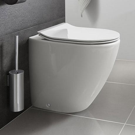 Bauhaus - Svelte Back to Wall Pan with Soft Close Seat - White