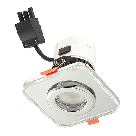 Sensio IP65 TrioTone Cube Fire Rated Downlight - Clear Glass - SE621940T0