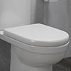 D-Shaped Rapid Fix Soft Close Toilet Seat profile small image view 1