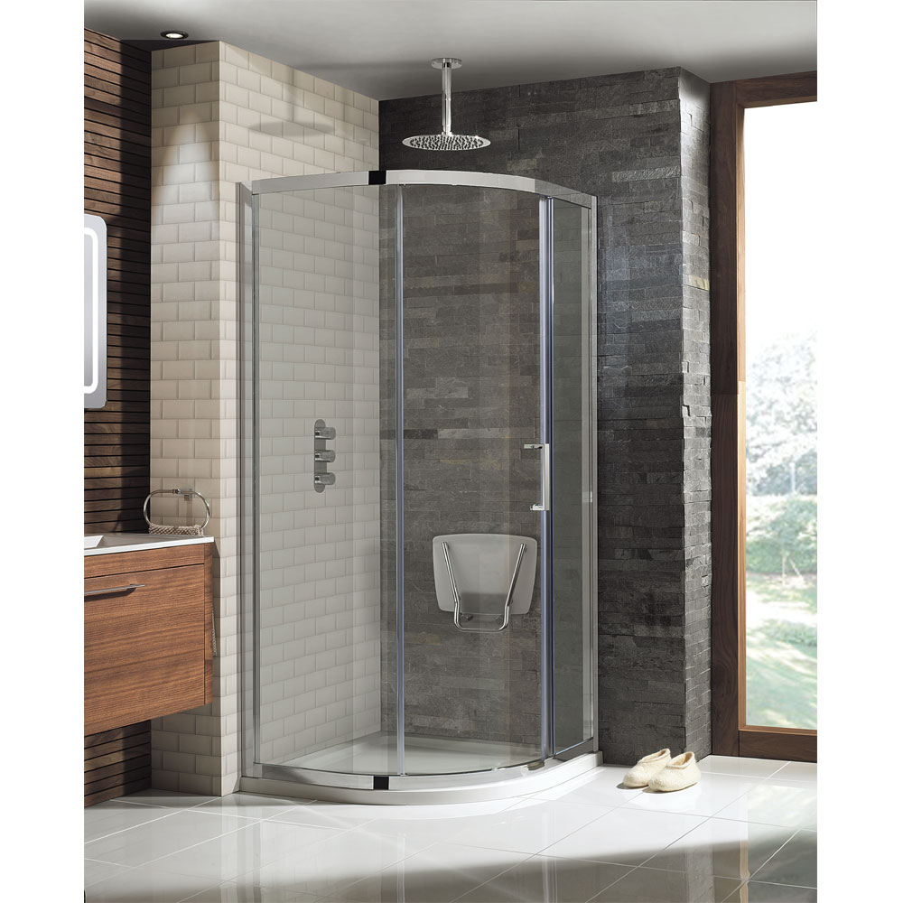 Simpsons - Square Wall Mounted Folding Shower Seat Profile Large Image