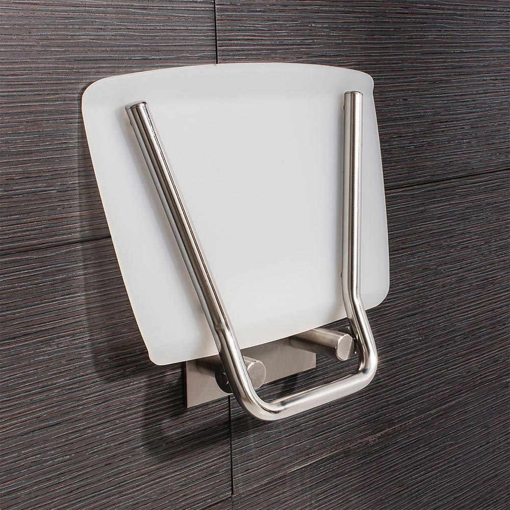 Simpsons - Square Wall Mounted Folding Shower Seat Feature Large Image