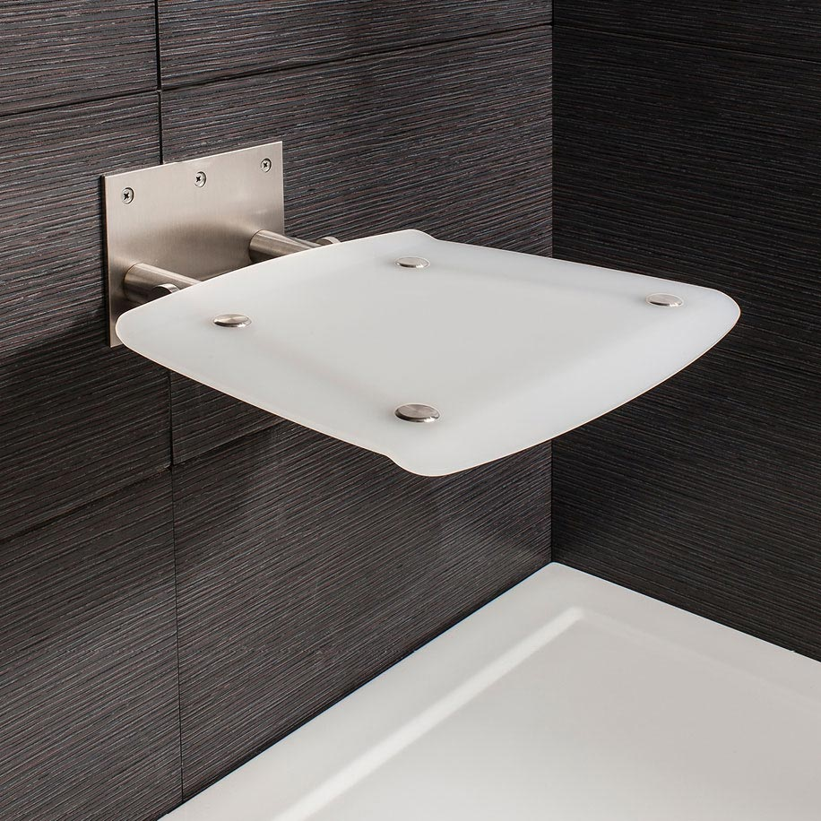 Simpsons - Square Wall Mounted Folding Shower Seat profile large image view 1