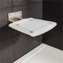 Simpsons - Square Wall Mounted Folding Shower Seat Medium Image