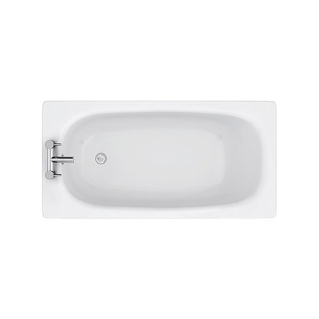 Aurora 1400 x 700mm 2TH Steel Enamel Bath