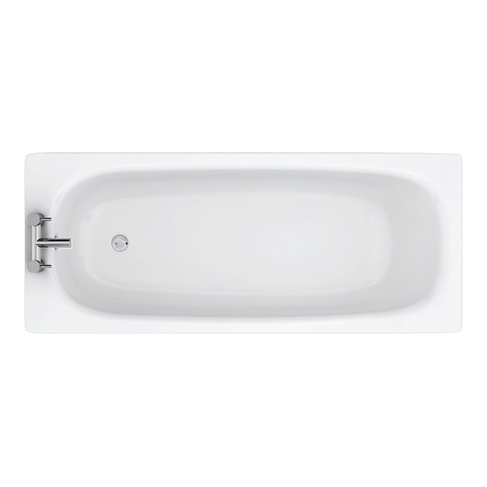 Aurora 1700 x 700mm 2TH Steel Enamel Bath