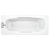 Aurora 1800 x 800mm 2TH Steel Enamel Bath profile small image view 1