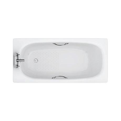 Aurora 1500 x 700mm 2TH Steel Enamel Bath with Grips + Anti Slip