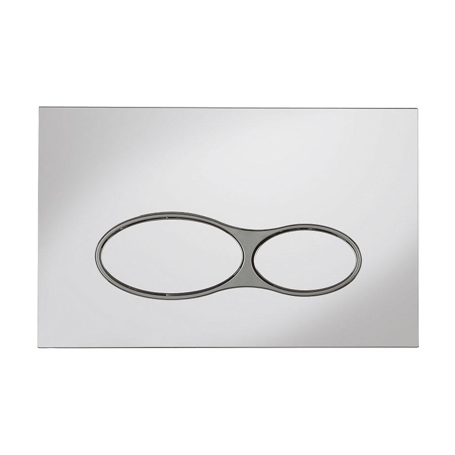 Bauhaus Svelte Chrome Dual Flush Plate - SEFLUSHC profile large image view 1