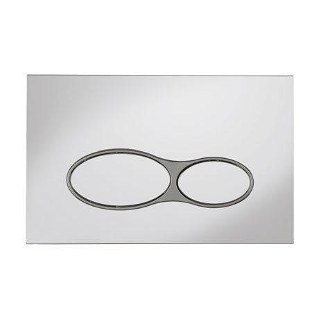 Bauhaus Svelte Chrome Dual Flush Plate - SEFLUSHC