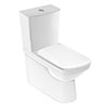 Geberit Selnova Square Rimless Close Coupled Toilet + Soft Close Seat profile small image view 1