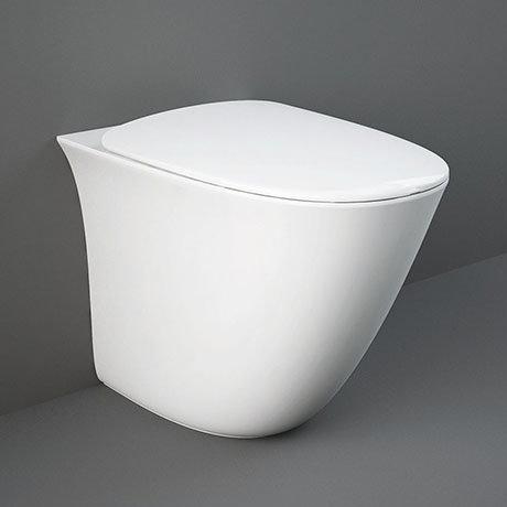 RAK Sensation Rimless Back To Wall Pan + Soft-Close Seat
