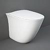 RAK Sensation Rimless Back To Wall Pan + Soft-Close Seat profile small image view 1