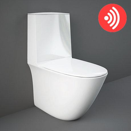 RAK Sensation Touchless Flush Rimless BTW Close Coupled Toilet + Soft-Close Seat