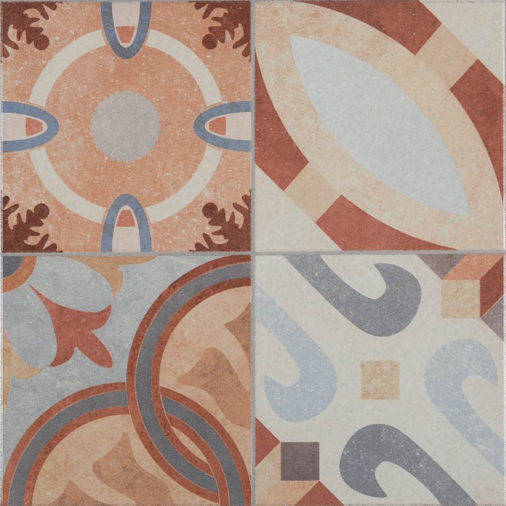 Seville Patterned Floor Tiles - 333 x 333mm  Standard Large Image
