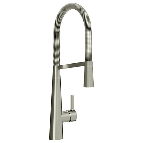 Bristan Saffron Professional Kitchen Sink Mixer with Pull Out Spray - Brushed Nickel - SFF-PROSNK-BN