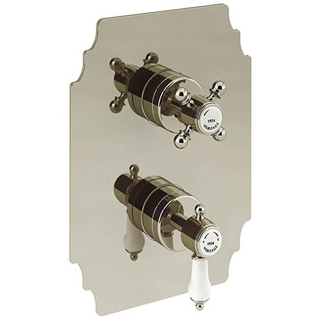 Heritage Glastonbury Twin Concealed Shower Valve - Vintage Gold - SGA03