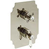 Heritage Glastonbury Twin Concealed Shower Valve with Two Outlet Diverter - Vintage Gold - SGA04 profile small image view 1