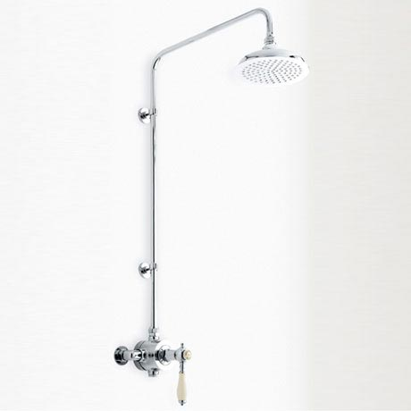 Heritage - Glastonbury Exposed Thermostatic Valve with Rigid Riser - Chrome - SGCSIN01