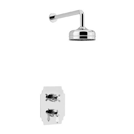 Heritage Glastonbury Recessed Shower with Premium Fixed Head Kit - Chrome - SGDUAL01