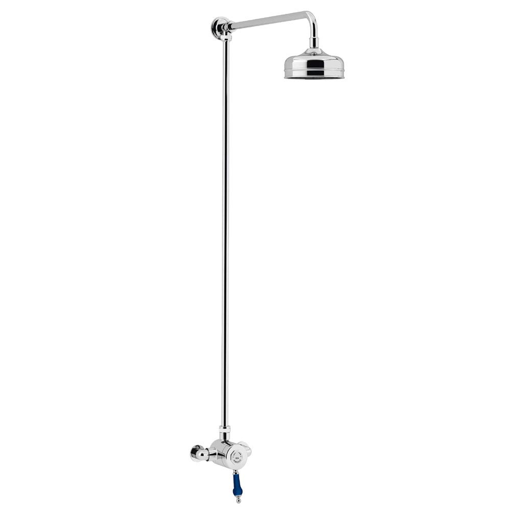 Heritage Glastonbury Midnight Blue Exposed Shower with Premium Fixed Riser Kit - SGRBLSIN01 Large Im