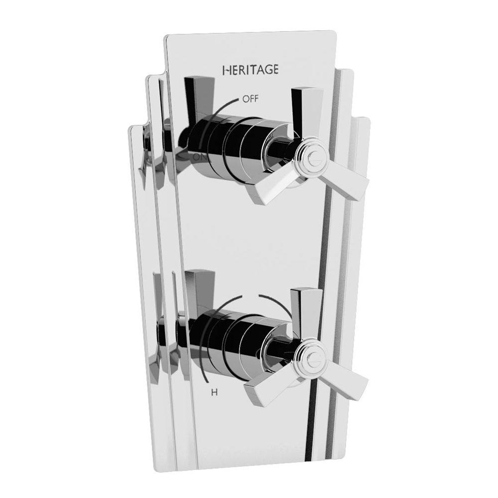 Heritage Gracechurch Recessed Shower with Deluxe Fixed Head Kit - Chrome - SGRDDUAL02 profile large image view 2
