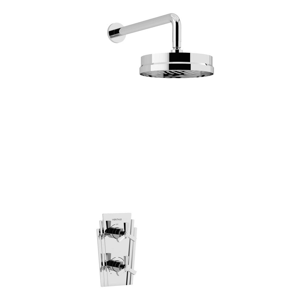 Heritage Gracechurch Recessed Shower with Deluxe Fixed Head Kit - Chrome - SGRDDUAL02 profile large image view 1
