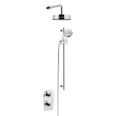 Heritage Gracechurch Recessed Shower with Deluxe Fixed Head and Flexible Riser Kit - Chrome - SGRDDU