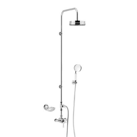 Heritage Gracechurch Exposed Shower with Deluxe Fixed Riser Kit & Diverter to Handset - Chrome - SGR