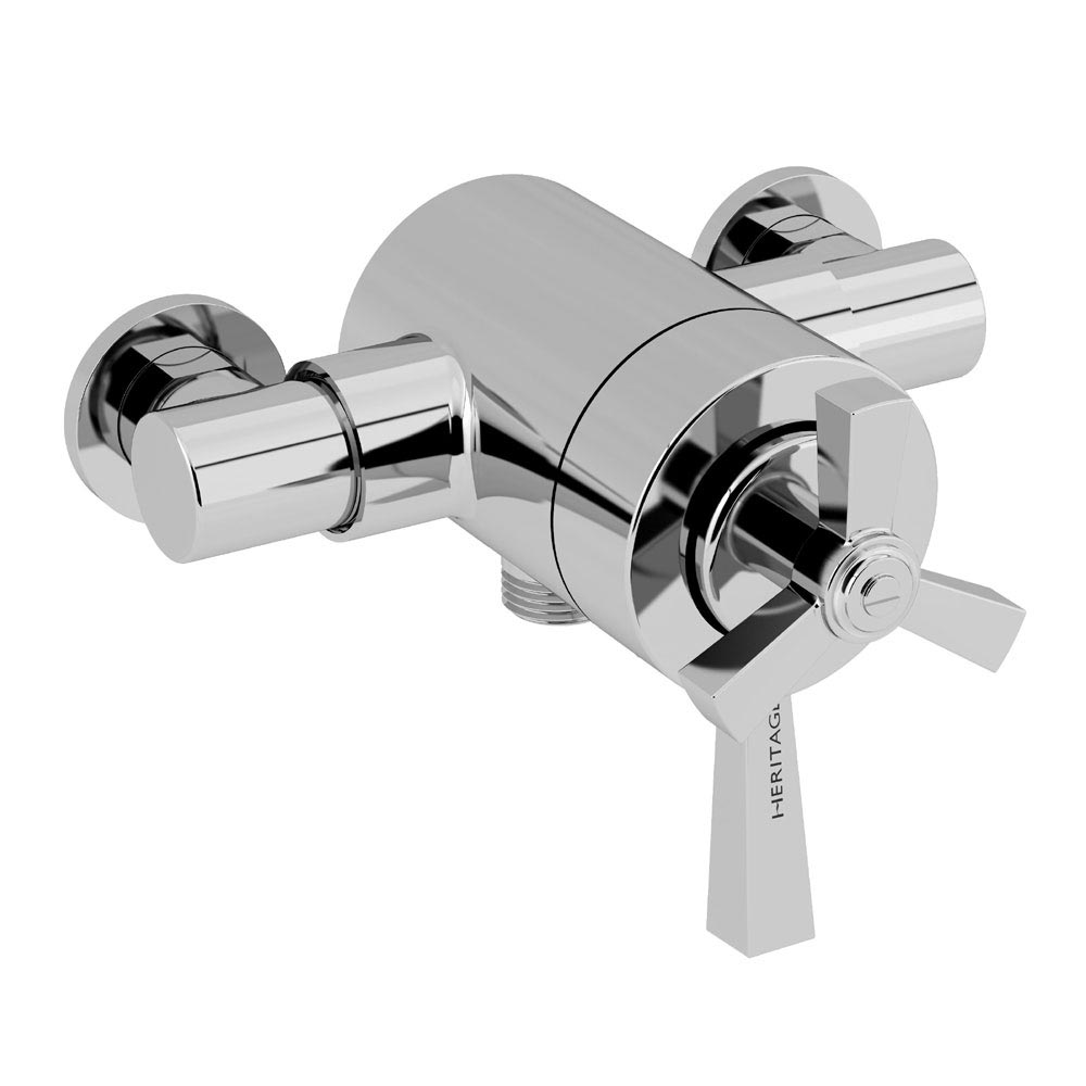 Heritage Gracechurch Exposed Shower with Deluxe Flexible Riser Kit - Chrome - SGRDDUAL05  Profile Large Image