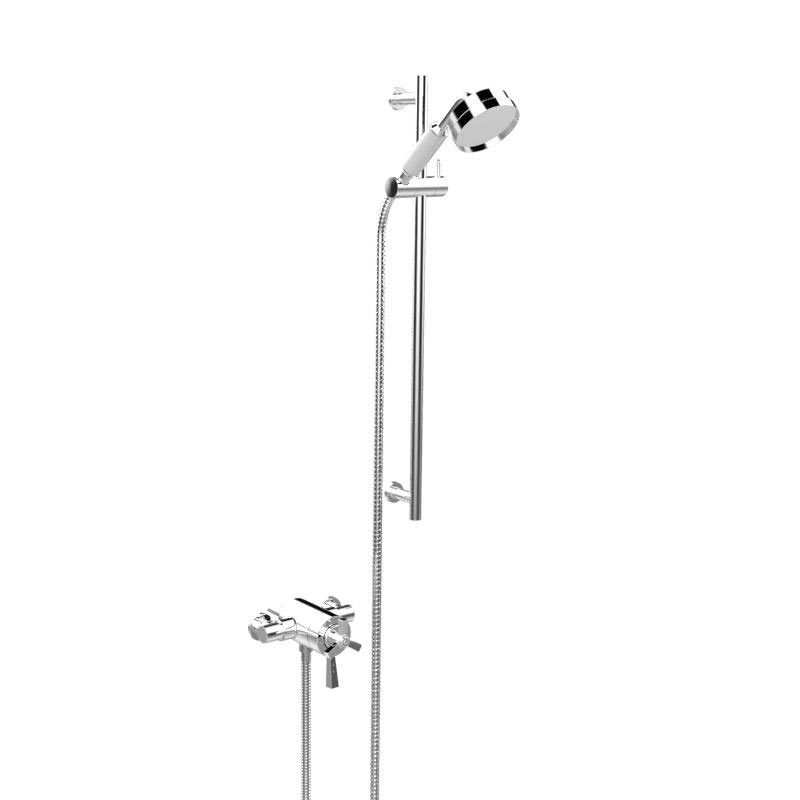 Heritage Gracechurch Exposed Shower with Deluxe Flexible Riser Kit - Chrome - SGRDDUAL05 Large Image