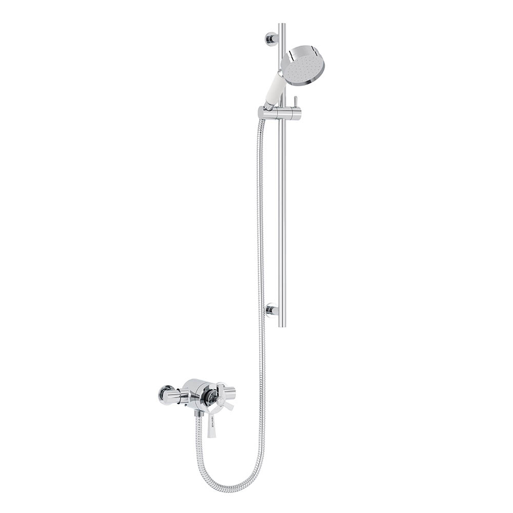 Heritage Gracechurch Exposed Shower with Deluxe Flexible Riser Kit - Chrome - SGRDDUAL05
