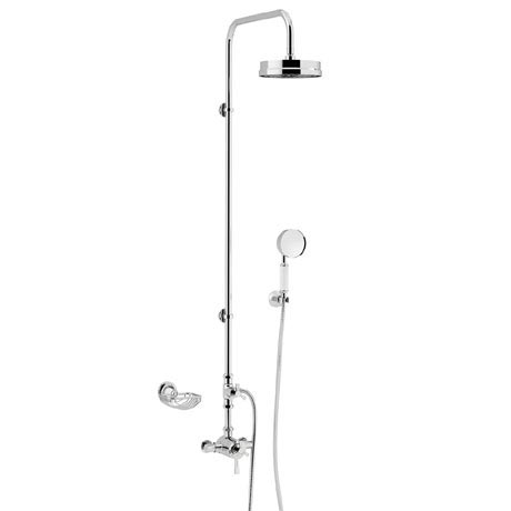 Heritage Gracechurch Mother of Pearl Exposed Shower with Deluxe Fixed Riser Kit & Diverter to Handse