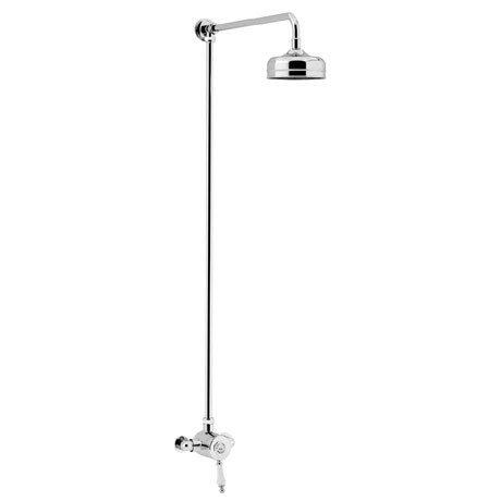 Heritage Glastonbury Exposed Shower with Premium Fixed Riser Kit - Chrome - SGSIN03