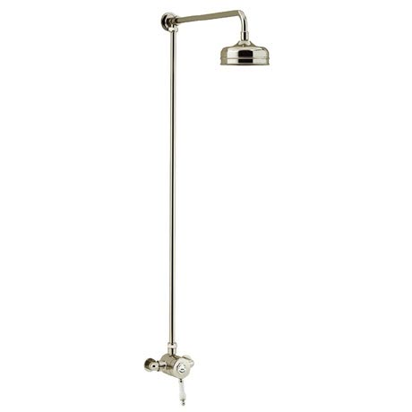 Heritage Glastonbury Exposed Shower with Premium Fixed Riser Kit - Vintage Gold - SGSIN04