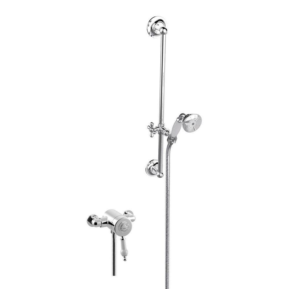 Heritage Glastonbury Exposed Shower with Premium Flexible Riser Kit - Chrome - SGSIN05 profile large image view 1