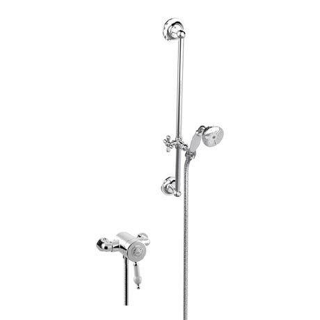 Heritage Glastonbury Exposed Shower with Premium Flexible Riser Kit - Chrome - SGSIN05